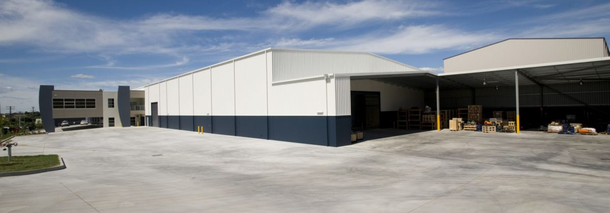 Truflo warehouse and factory Akura design and construct