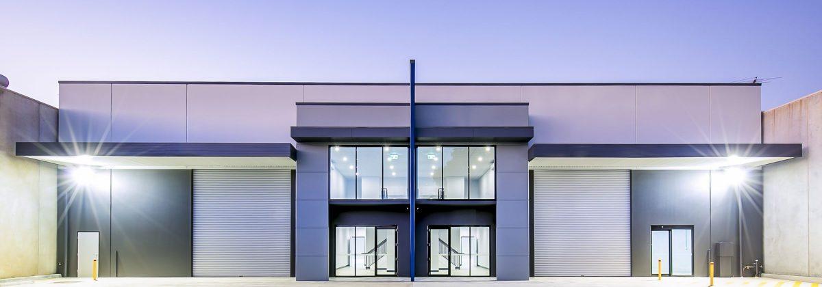 Twin warehouse, Smeaton Grange